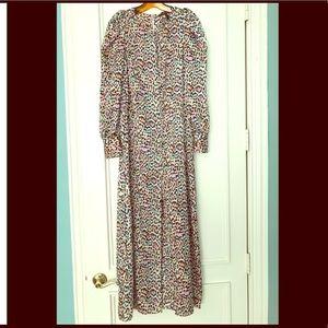 BCBGMAXAZRIA Womens Leopard Print Maxi Dress
